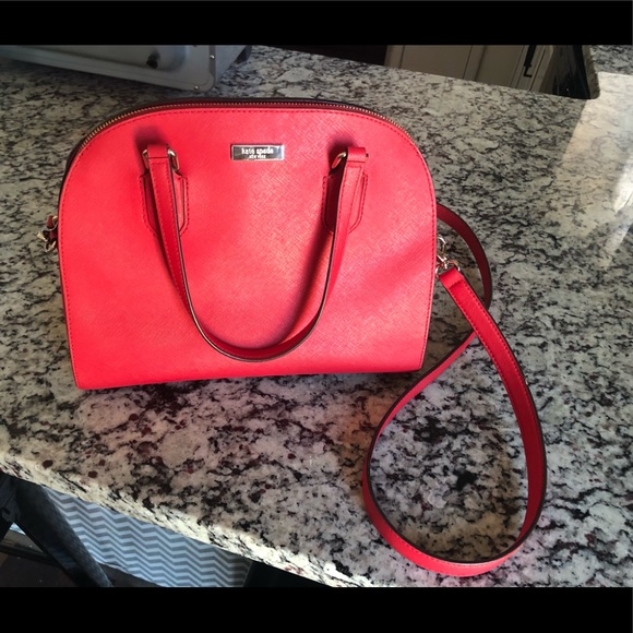 kate spade Handbags - Red Kate Spade bucket purse